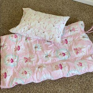 Pottery Barn Kids Ballerina Sleeping bag w/pillow